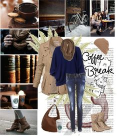 """Coffee break"" by miss-raspberry-92 ❤ liked on Polyvore"
