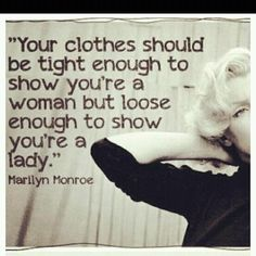 I love this :) Marilyn Monroe quote