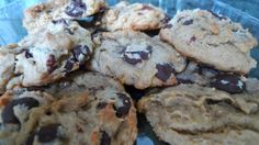 siriously delicious: Chocolate Chip Peanut Butter Banana Cookies... again.