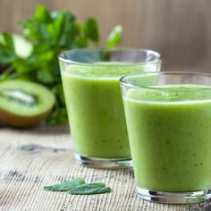 Cool off with this refreshingly sweet green smoothie, filled with delicious fruits like melon, grapes, and kiwis!