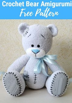 Everyone needs the squeezable love of a cute crochet teddy bear. Here are 10 adorable crochet teddy bear patterns to make as gifts for everyone you know. Teddy Bear Patterns Free, Teddy Bear Sewing Pattern, Crochet Amigurumi Free Patterns, Crochet Animal Patterns, Stuffed Animal Patterns, Crochet Dolls, Crochet Animals, Knitted Teddy Bear, Tatty Teddy