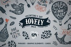 Valentine's day pack by tatiletters on @creativemarket