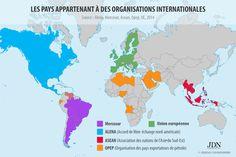 Les organisations internationales : 16 cartes qui vont changer votre vision du monde - JDN