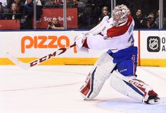 TORONTO, ON - JANUARY 7: Carey Price #31 of the Montreal Canadiens clears the puck against the Toronto Maple Leafs during the third period at the Air Canada Centre on January 7, 2017 in Toronto, Ontario, Canada. (Photo by Graig Abel/NHLI via Getty Images)