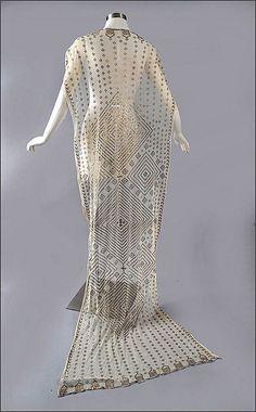 SOOOO beautiful! Deco Assuit Shawl c1920's - Shimmery Elegance