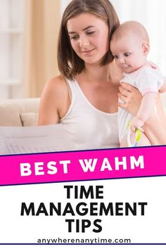 It's not easy being a WAHM (work at home mom!) Here are some of our best time management hacks for getting it all done while looking after the kids! Work From Home Business, Online Work From Home, Work From Home Moms, Business Ideas, Online Business, New Parent Advice, Mom Advice, First Time Parents, New Parents