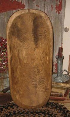 22 3 4 Large Wood Dough Bowl Trencher Table Centerpiece Primitive