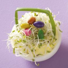 Hop-To-It Deviled Eggs ~ Wonderful project for the kids while moms and dads finish up Easter feast prep.