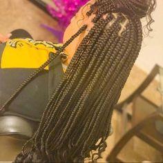 Small Box Braids Hairstyles, Natural Hair Braids, Long Box Braids, Mohawk Hairstyles, Kids Braided Hairstyles, Protective Hairstyles, Protective Styles, Kim Kardashian Braids, Sew In Braids