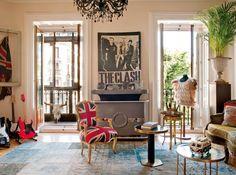 Rock n roll home decor   ... rock n roll apartment in Mardrid featured in Elle Decor Espana