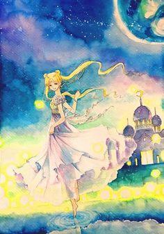 Sailor Moon Fan Art, Sailor Moon Character, Sailor Moon Manga, Sailor Moon Crystal, Sailor Princess, Moon Princess, Manga Anime, Sailor Moon Background, Princesa Serenity