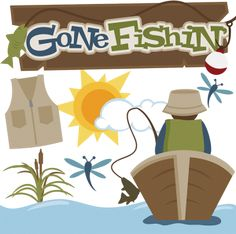Gone Fishin' SVG files for cutting machines fishing svg files for scrapbooking fishing svg cut files