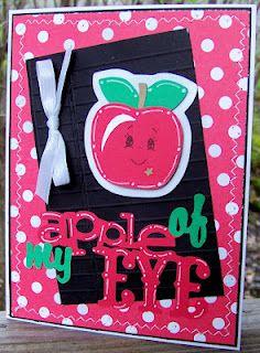 Teachers card using Cricut cart Just because cards.....Sous Die Cut challenge Fruit