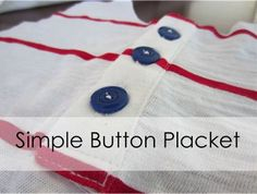 Staying Steyn: Tutorial: Simple Button Placket