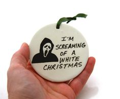 Scream Christmas Ornament   Funny Horror Goth by LennyMud on Etsy, $8.00