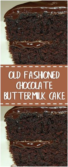 Old Fashioned Chocolate Buttermilk Cake Ingredients cup butter 1 cup sugar 2 eggs 2 squares unsweetened cho. Sweet Desserts, Just Desserts, Sweet Recipes, Delicious Desserts, Cake Recipes, Dessert Recipes, Yummy Food, Chocolates, Unsweetened Chocolate