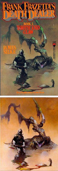 FRANK FRAZETTA - Tooth and Claw - Frank Frazetta's Death Dealer #3 - 1989 Tor Books - print/cover by capnscomics.blogspot.com