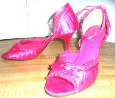 FOR THE GIRLY GIRL WHO LOVES PINK RIBBON SATIN & LACE DELICIOUS PINK STILETTOS 6 #Delicious #Stilettos