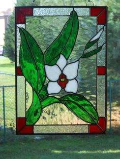 This breathtaking stained glass panel will look stunning hanging in your window. I especially chose this pattern for its simple elegance. I