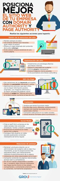 Domain authority y Page authority para posicionar tu web #infografia  #seo