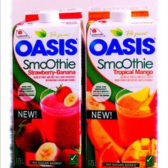 New Oasis Smoothies, no sugar added