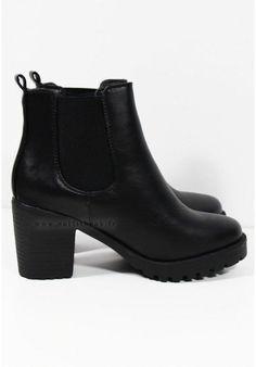 Tendance Chaussures 2017  Bottines à talon noires