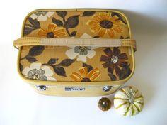 Floral Train Case