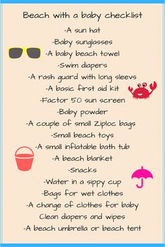 Beach with a baby | Travel with a baby