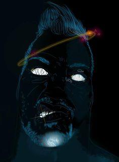 illustration  graphic art mambo face