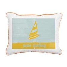 Cute Gone Surfing Rectangular Canvas Pillow