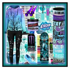 """""""Untitled #95"""" by violet-vonrose ❤ liked on Polyvore featuring Vans, Manic Panic and Darkstar"""