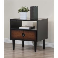 Add style and storage in any room with the elegant Allen end table. Featuring clean lines and plenty of space for  storing and displaying your favorite items.