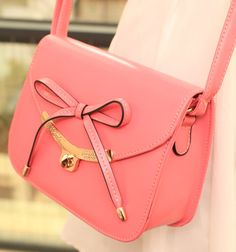 Pink bow crossbody bag the color is just gorgeous!!!