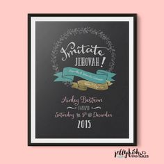 A personal favorite from my Etsy shop https://www.etsy.com/listing/236379953/baptism-print-keepsake-for-jehovahs