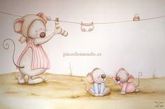 Murales habitacion bebe http://www.mamidecora.com/decora_pared_picolo_mondo_infantil.htm