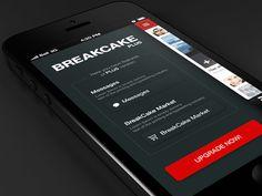 Dribbble - App plus features by Tomasz Zagórski