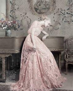 Anne Sophie Monrad wearing Elie Saab Haute Couture by Marianna Sanvito | Elle Russia