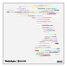 London Text Design II Wall Decal Drill