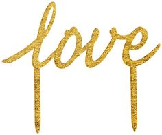 Ginger Ray Pastel Perfection Love Sparkling Cake Topper Wedding Gold