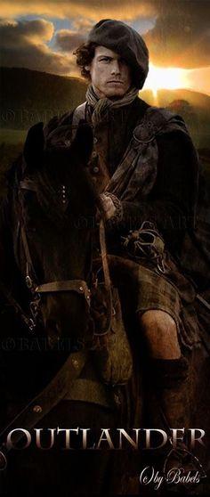 Sam Heughan as Jamie Fraser in the STARZ series Outlander Outlander Season 1, Outlander 3, Sam Heughan Outlander, James Fraser Outlander, Outlander Book Series, Outlander Tv Series, Outlander Characters, British American, Jamie Fraser