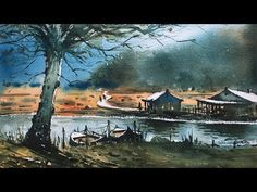 This is the last day in Mumbai, got new job in Saharanpur U. Leaving Mumbai today, very emotional today to painting last time in Powai Lake, Watercolor on paper, Size 15 X 11 inches. Pastel Drawing, Drawing S, Watercolor Landscape, Watercolor Paintings, Watercolours, Persian Blue, Step By Step Painting, Medium Art, Wallpaper S
