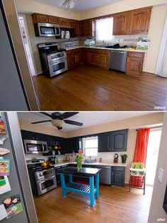 Painted Cabinets and Painted Backsplash - Before and After Home Renovations - DIY Kitchen Renovation