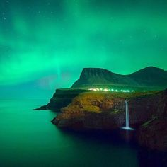 Northern Lights, Faroe Islands, Denmark. Photo courtesy of globaltoruing on Instagram.