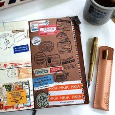 ✈️ travel journal #トラベラーズノート #トラベラーズファクトリー #midoritravelersnotebook…