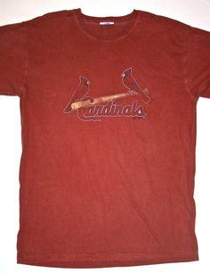 Vintage Mens St. Louis Cardinals Baseball Shirt available at VintageMensGoods on Etsy, $18.00