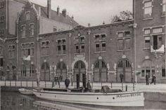 brandweer achtergracht met brandweer boot: Jan van der Heyde