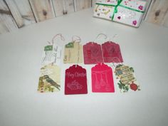 Christmas Gift Tags  Miniature Postcards by ButterflyInTheAttic, $6.95
