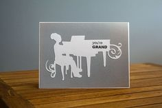 You're Grand  Grand Piano greeting card in by TheCardCollections, $7.50