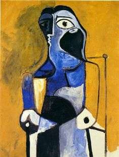 Seated woman, 1960 -Pablo Picasso