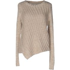 Only Jumper (1285 NIO) ❤ liked on Polyvore featuring tops, sweaters, beige, long sleeve tops, brown top, only sweater, long sleeve jumper and extra long sleeve sweater